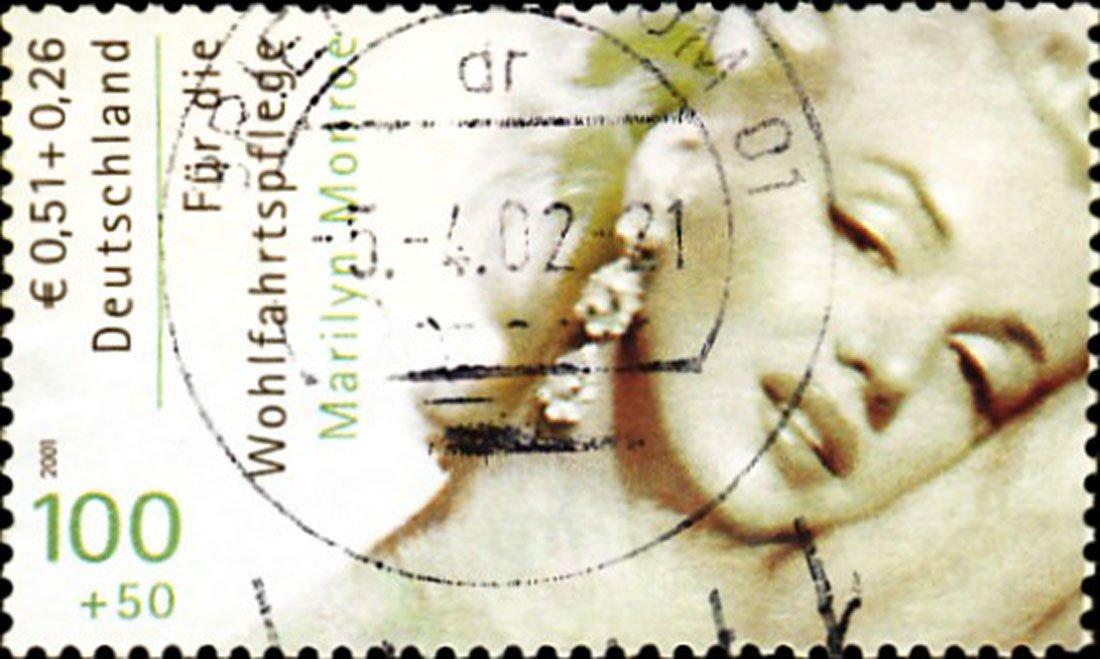 マリリンモンロースタンプ – キャンバスまたは壁アートプリント Fine Paper - 20 x 30 Fine Paper - 20 x 30  B008GI39W4