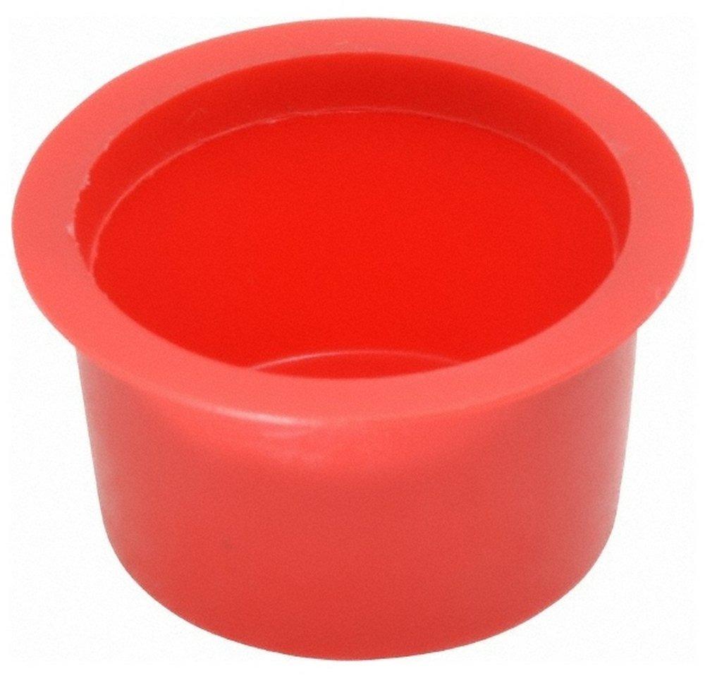 Press Fit Plug, 1 NPT OD, Polyethylene, Red 100 Pack