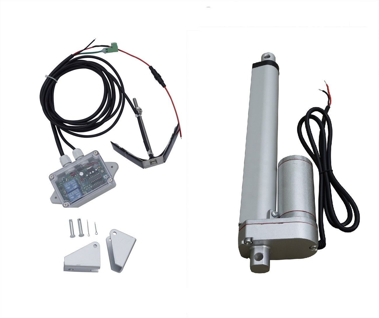 ECO-WORTHY 8 Inch 12V Linear Acuator +1KW 12V Complete Single Axis Sunlight Solar Tracking System L03TGF12V200-TSAC-1