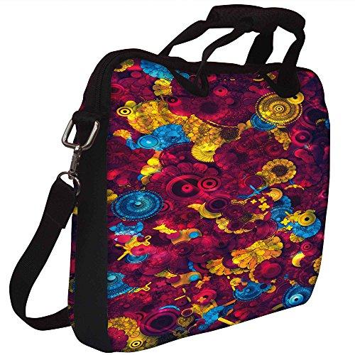 Snoogg Digitale Floral Kenzie Gedruckt Notebook-Tasche mit Schultergurt 13 bis 13,6 Zoll