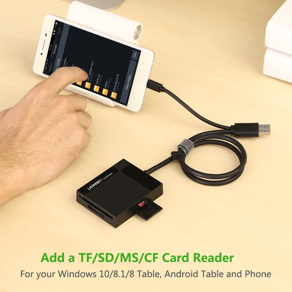 SanFlash PRO USB 3.0 Card Reader Works for Samsung SM-T825 Adapter to Directly Read at 5Gbps Your MicroSDHC MicroSDXC Cards