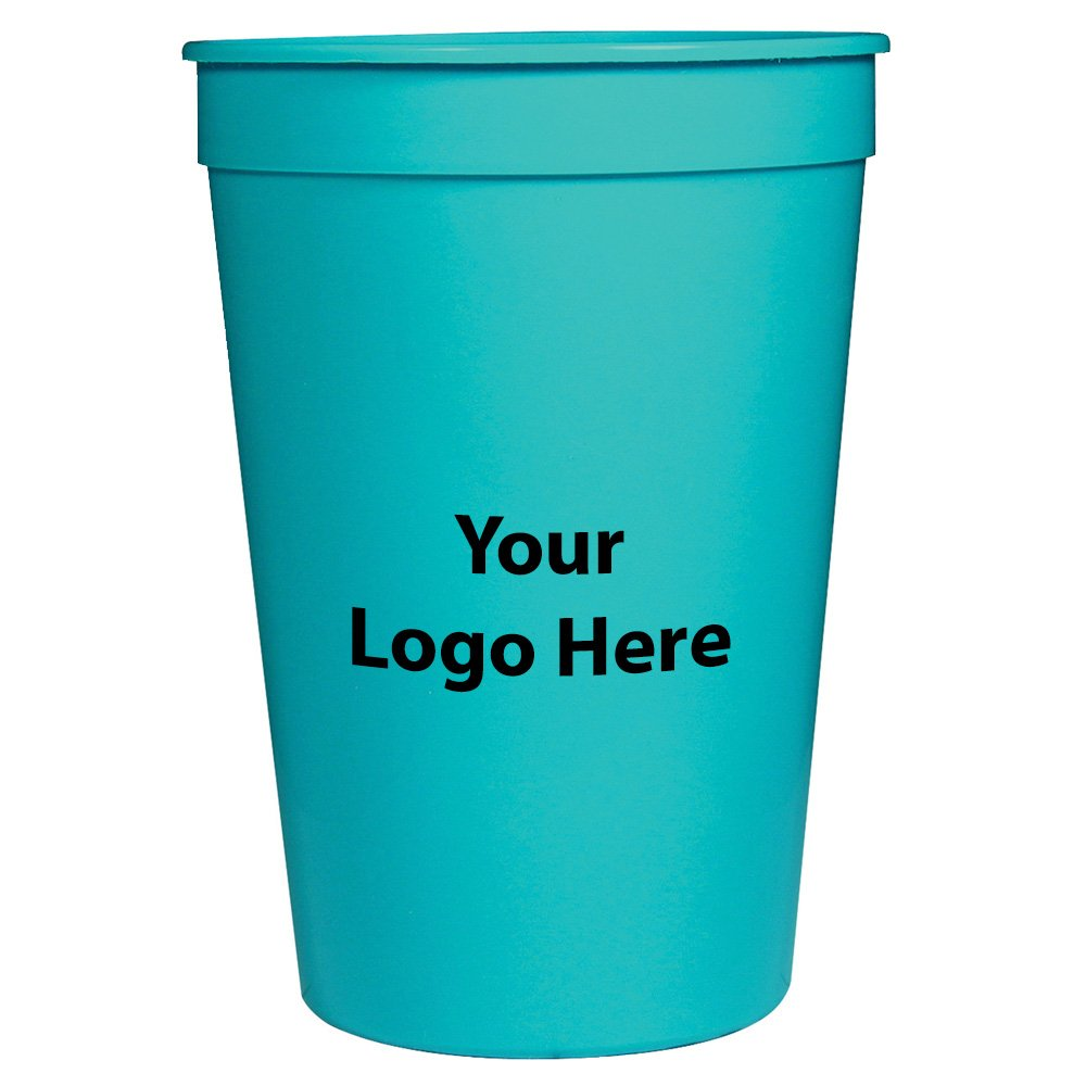 Personalized Custom Stadium Cups– Smooth Finish - 250 Quantity - $0.60 Each - Bulk Promotional Product Branded with Your Logo / Customized. 16-ounce capacity.