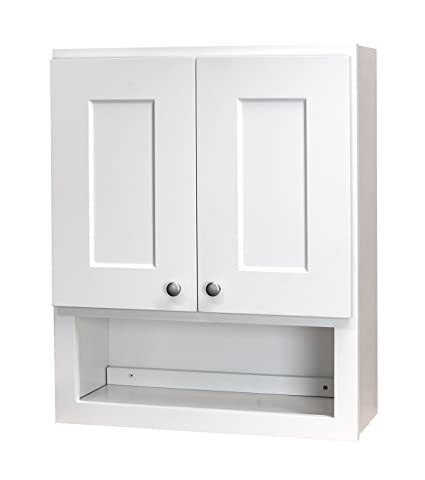 Amazon White Shaker Bathroom Wall Cabinet 21x26 Wshelf