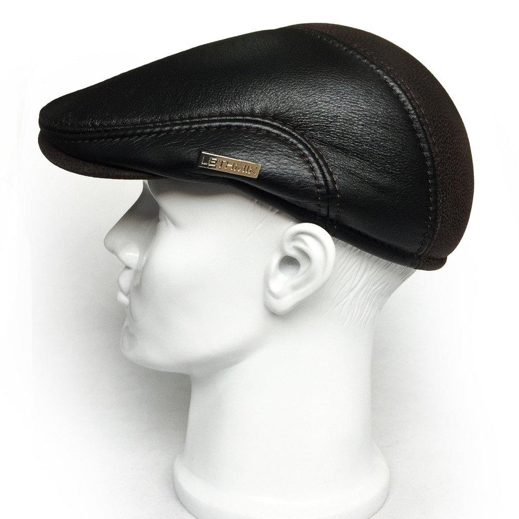 LETHMIK Soporte de Piel Ivy Cap Vintage, diseño de Sombrero Newsboy ...