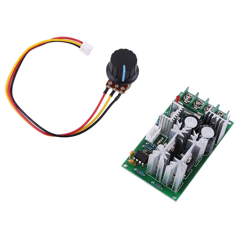 Controlador de Velocidad del Motor Regulador de Velocidad de DC PWM 20A 10-60V