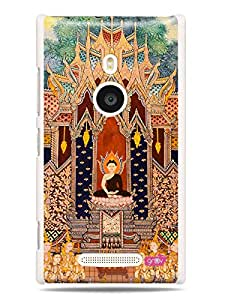 GRÜV Premium Case - 'Beautiful Art Artistic : Thailand Buddhist Temple' Design - Best Quality Designer Print on White Hard Cover - for Nokia Lumia 925
