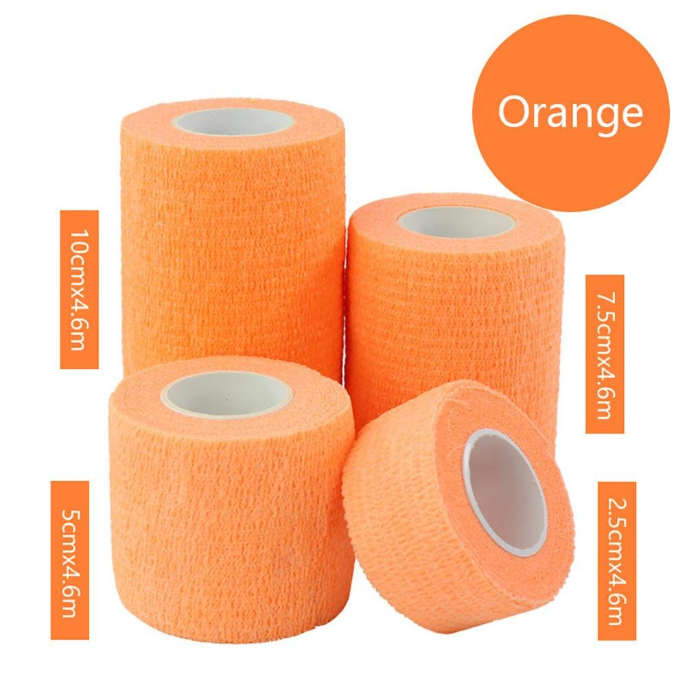 JaneDream Sports Waterproof Breathable Safety Adhesive Flexible Elastic Bandage First Aid Medical Health Care Gauze Protect Finger Wrist Ankle Knees Tape S 2.5cm Orange