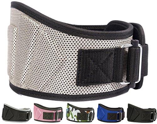 Fire Team Fit Weight Belts for Lifting, Weight Lifting Belt, Lifting Belt, Gym Belt for Men, Lifting Belt Men (Metallic Grey, 30