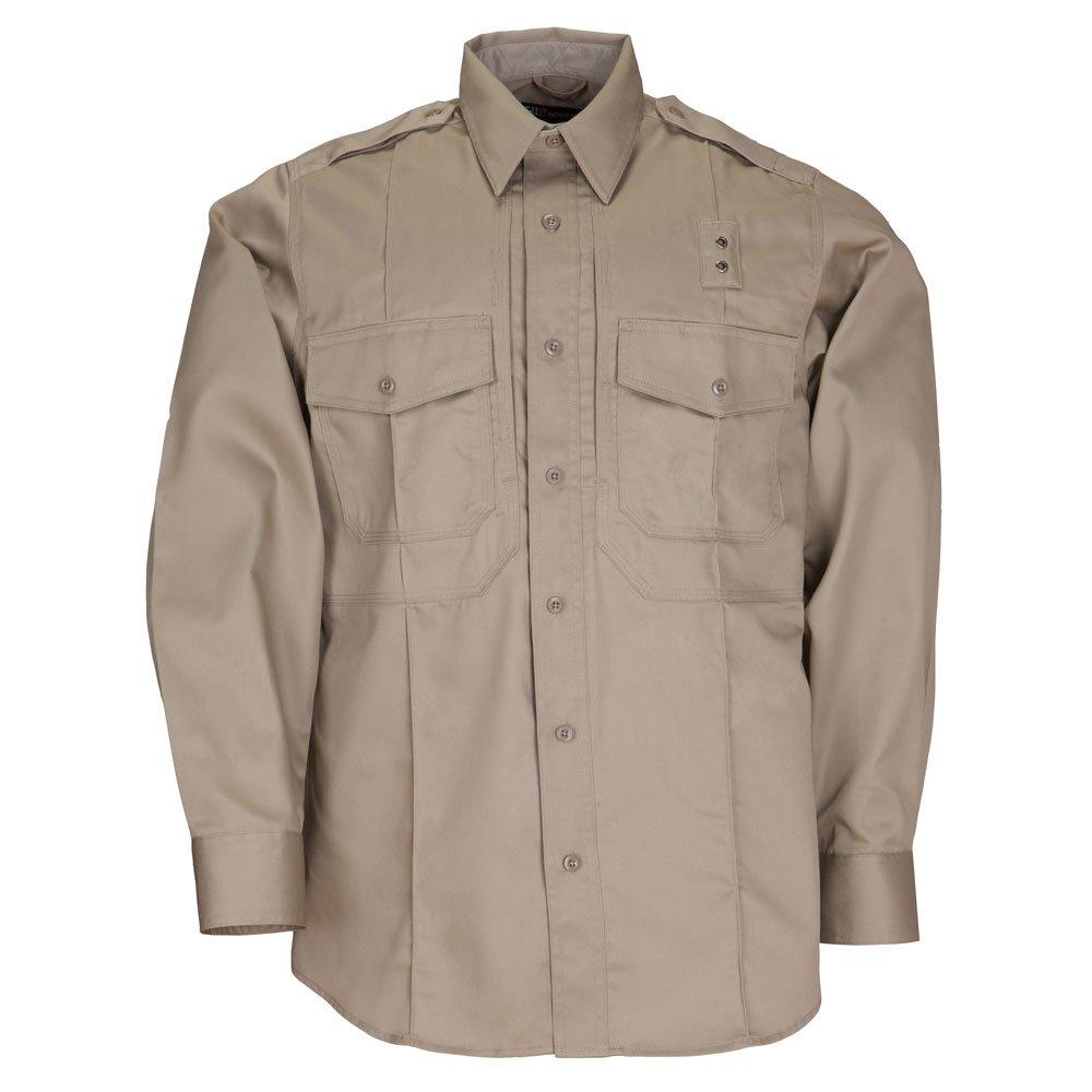5.11 Tactical # 72345メンズPDU長袖ツイルクラスBシャツ シルバータン XX-Large