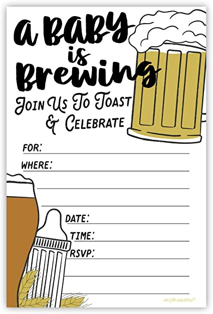 Baby is a Brewing Baby Shower Invitation BAS38