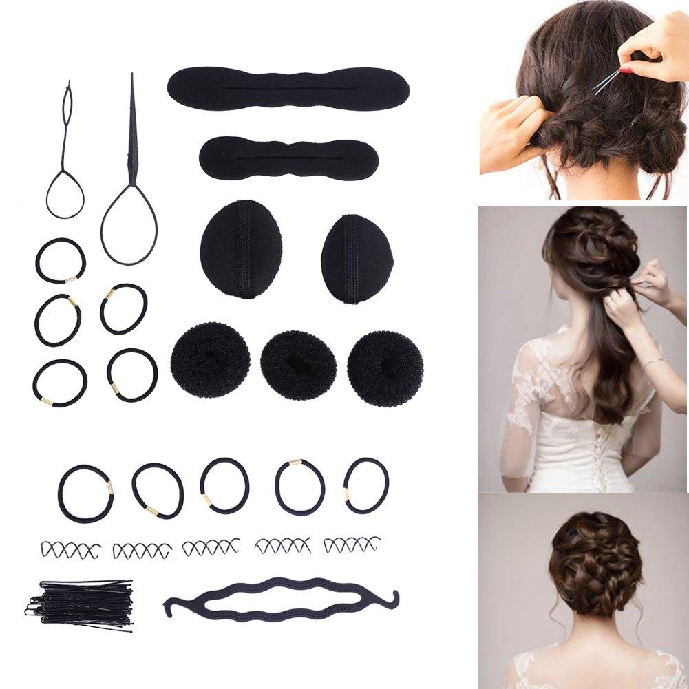 65 Pcs Fashion Women Magic Hair Twist Styling Accessories Hairpins Bun Maker Braid Tools Kit
