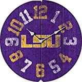 Imperial Officially Licensed NCAA Merchandise: Vintage Round Clock, LSU Tigers