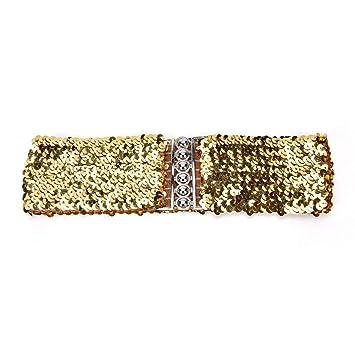 Garantía de calidad 100% venta barata ee. verse bien zapatos venta DYCHUN Cinturón Mujer Cinturón Elástico Ancho Dorado/Negro ...