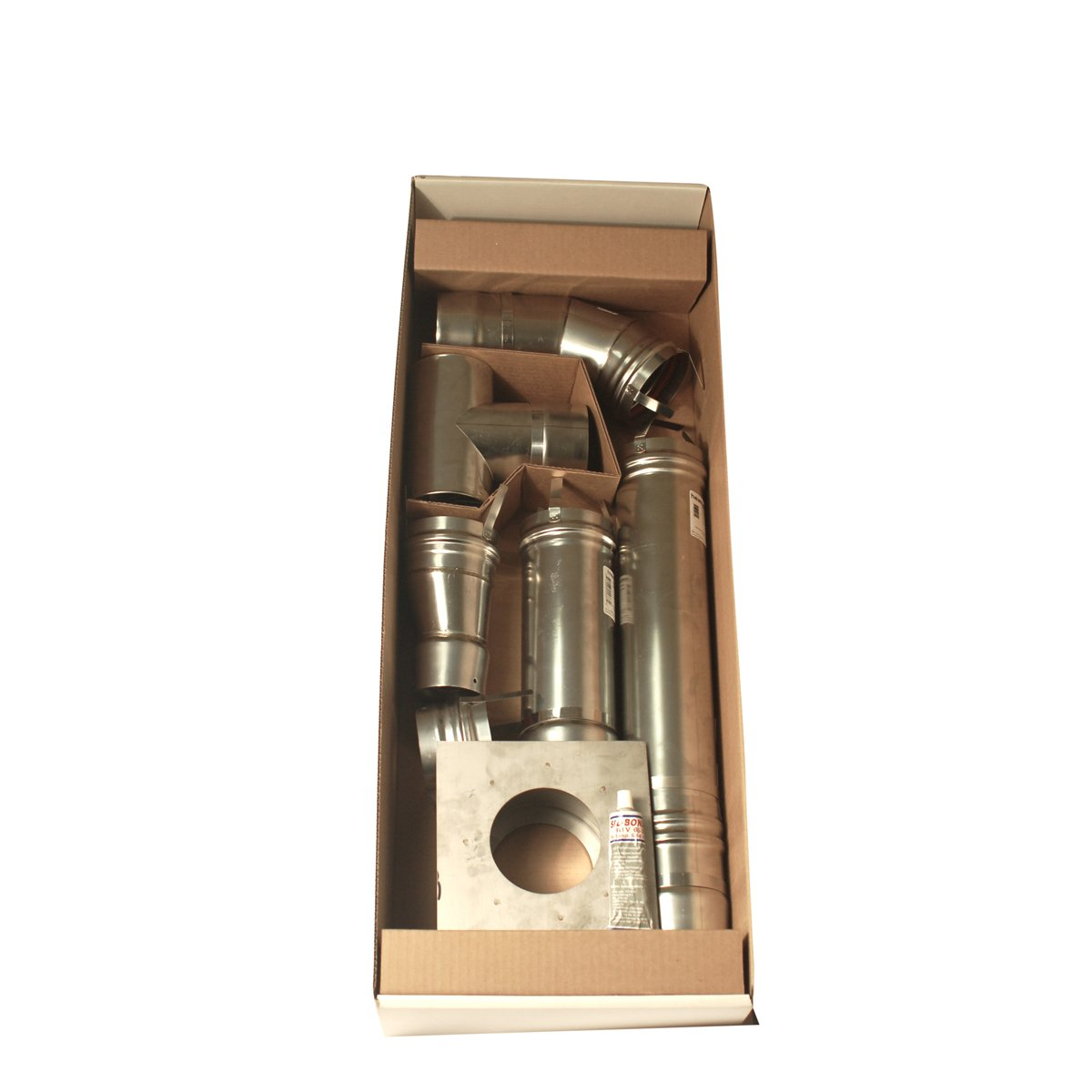 Mr. Heater 4 inch Stainless Steel Horizontal Vent Kit for Big Maxx MHU50 and MHU80 Unit Heaters