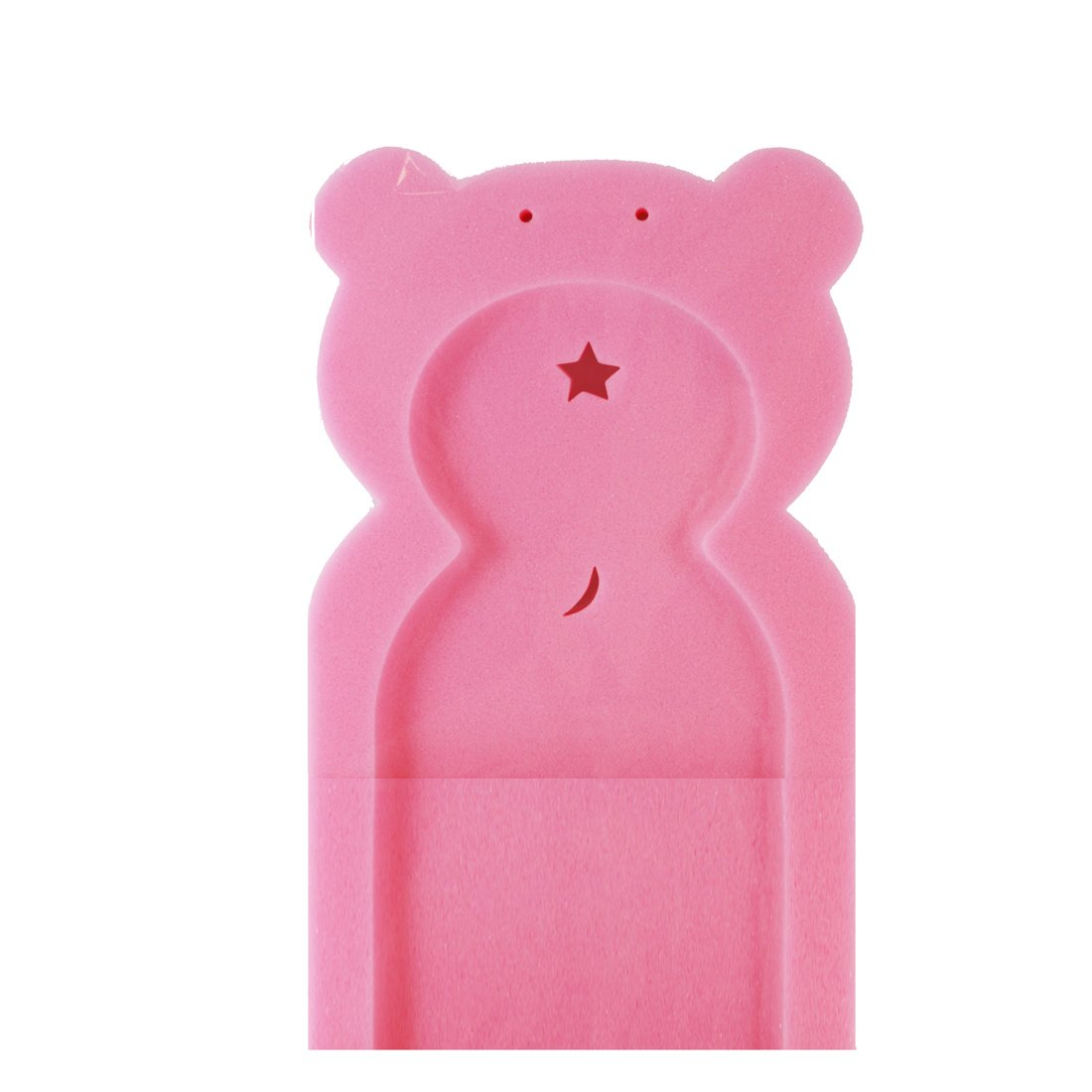 First Steps Baby Bath Sponge Support in Teddy Bear Shape for Babies from Newborn Pink FS324