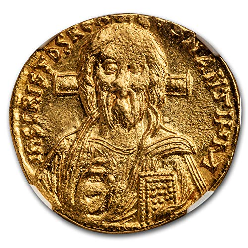 685 IT Byzantine Gold Solidus Justinian II (685-695 AD) MS NGC Gold Mint State NGC