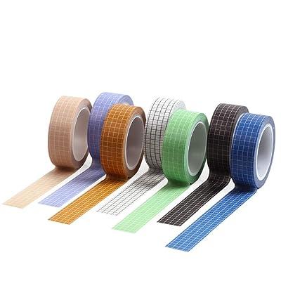 10 Rolls Rainbow Adhesive Decor DIY Scrapbook Sticker Paper Washi Tape Masking