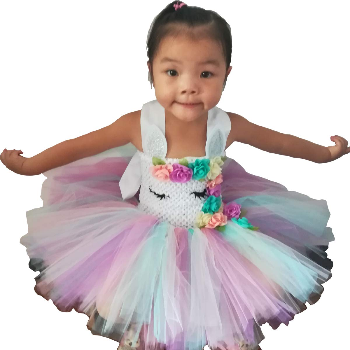NEW 2-piece Pink skirted leotard Tutu outfit w// roses Dance Costume Child sz Med
