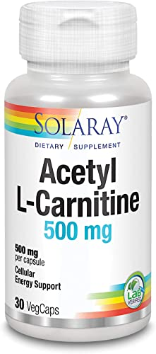 Solaray Acetyl L-Carnitine Supplement, 500mg, 30 Count
