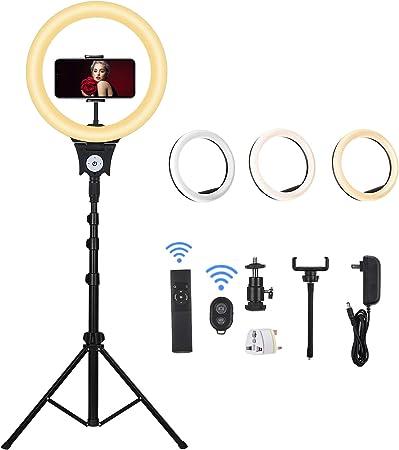 Todo para el streamer: CXYP LED Luz del Anillo, 12 Pulgadas 6000K Aro de Luz Regulable con Trípode y Soporte Teléfono de Tubo Blando, Iluminación Kit para Transmisión en Vivo, Fotografía, Selfie, Youtube, Grabación de Vídeo