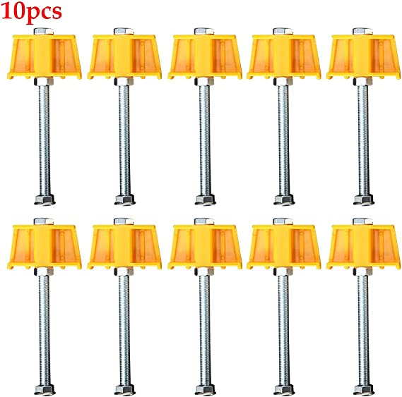 Kathleen0 Locator 10pcs//Set Tile Leveler t Position Rising Tool Height Adjuster onvenient orner Fine Thread Accurate Durable onstruction Outdoor Horizontal Line