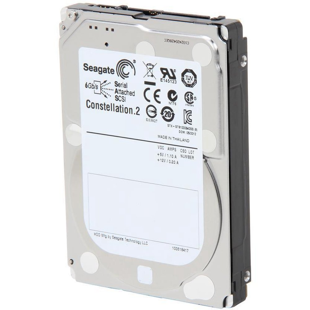 Seagate 1TB Constellation SAS 6Gb/s 64MB Cache 2.5-Inch Internal Bare Drive (ST91000640SS)