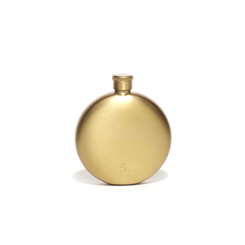【正規販売店】 Izola楕円形コンパクトステンレススチールラウンドTravel Flask Gold 5 18002 5 oz - Gold oz B06XC6JW1Z, フタバ装飾:a6be70f7 --- a0267596.xsph.ru