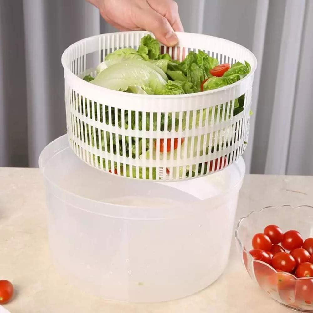 einfach zu bedienen 6 x 8,3 Zoll Hochgeschwindigkeitszentrifugation Trockner f/ür Obst und Gem/üse schnelle Entw/ässerung N // C Salatschleuder geeignet f/ür Familien Restaurants usw