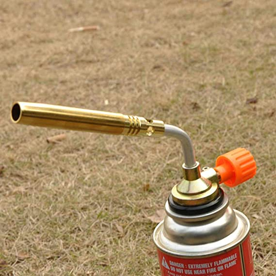 CALAP-STORE - Outdoor Camping BBQ Cooking Manual Ignition Flame Gun Welding Blower Copper Tube Butane Gas Torch Gun Camping BBQ - - Amazon.com