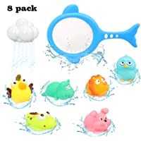 Barwa Baby Bath Toys Baby Fun Floating Bath Toy Cartoon Earth & Marine Animals Bathtub Shower Toys for Kids - Fun…
