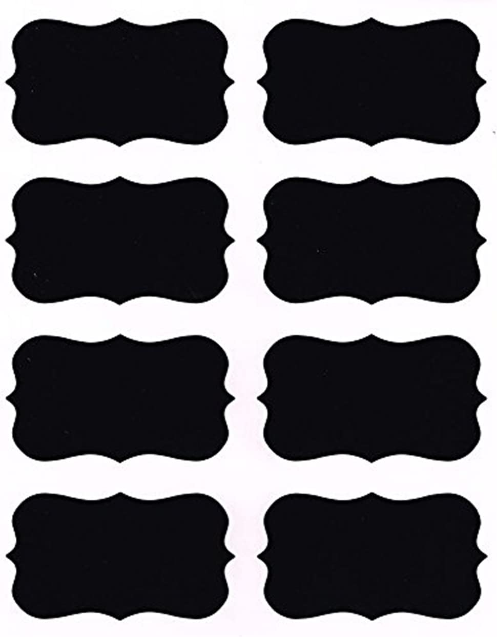 Free Shipping by Shop Simply Perfect Set of 24 24 Chalkboard Decals- Chalkboard Lables Mustache and Lip for Parties and Events