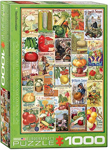 EuroGraphics Vegetables Smithsonian Seed Catalogues (1000 Piece) Puzzle - Abraham Lincoln Puzzles