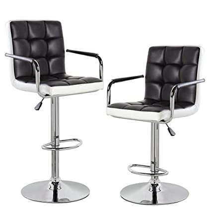 Incredible Amazon Com Kerland Counter Height Bar Stools Set Of 2 With Short Links Chair Design For Home Short Linksinfo