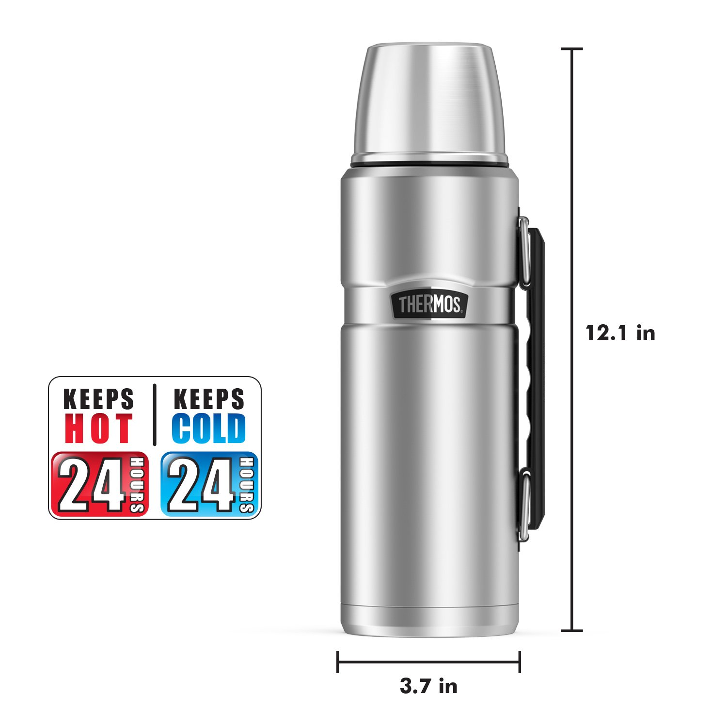 Thermos Stainless King 40 Ounce Beverage Bottle, Stainless Steel by Thermos (Image #5)