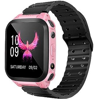 Niños Smart Watch Phone,Reloj GPS Niños Localizador con SOS Anti ...