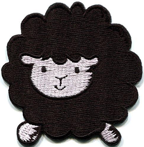 Black Sheep Lamb Ewe Farm Animal Fun Retro Applique Iron-on Patch New S-797 Handmade Design From - Applique Lamb