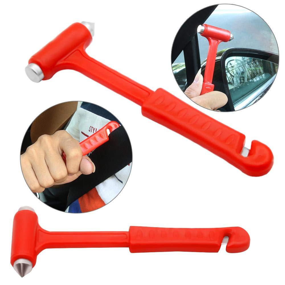 Ahomi 2 in 1 Mini Auto Sicherheitshammer Lebensrettende Nothammer Sicherheitsgurtschneider