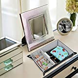 SPSHENG Valet Tray,PU Leather Jewelry Organizer Watch Coin Change Case Key Tray Box Perfect