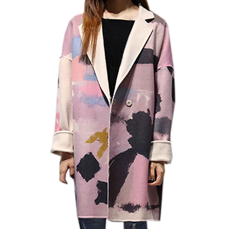 Partiss Women's Winter Wool Blend Slim Fit Thicken Coat