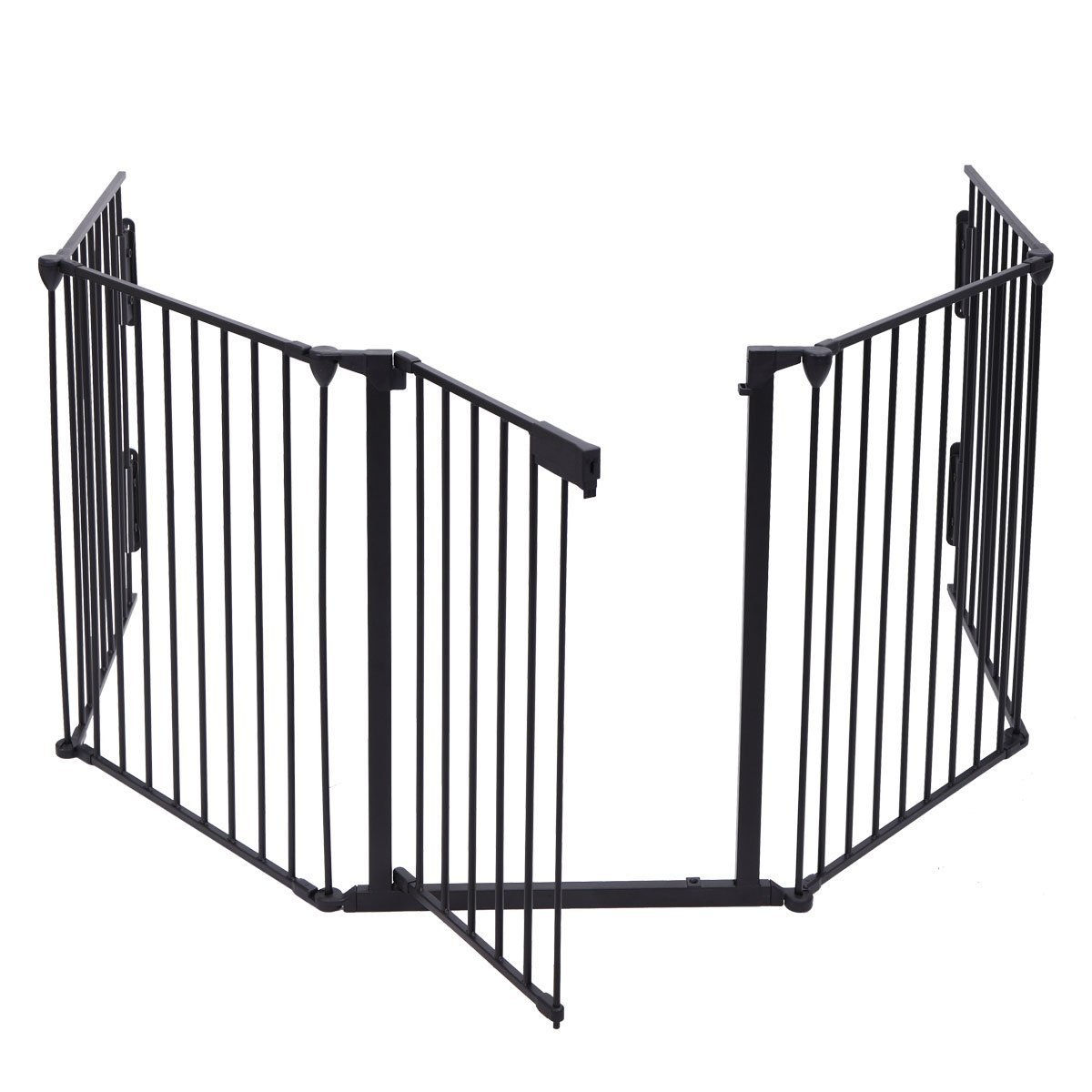 JAXPETY 25''x 30'' 5 Panel Baby Safety Fence Hearth Gate BBQ Fire Gate Fireplace Metal Plastic Pet Dog Cat by JAXPETY (Image #4)