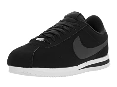 Nike Men's Cortez Basic Nbk Black/White/Metallic Silver Casual Shoe 10 Men  US