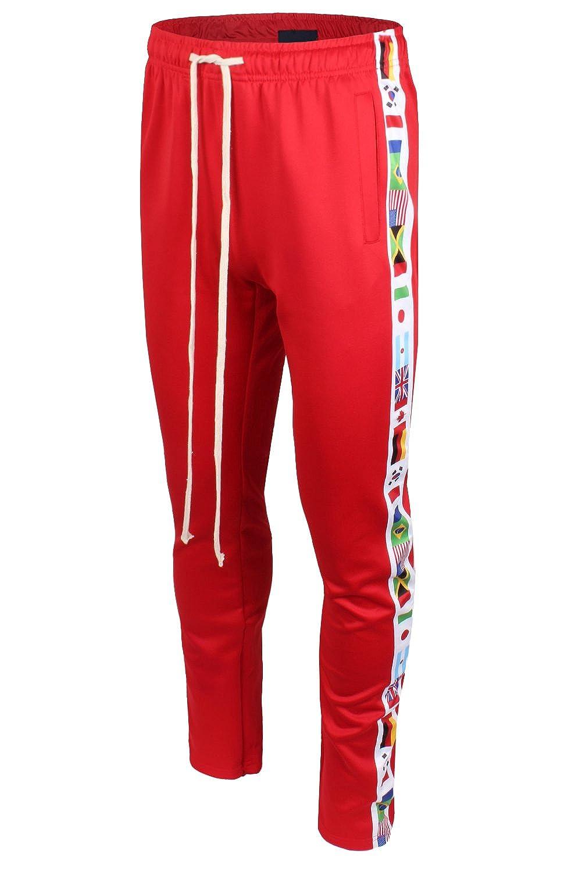 JC Distro メンズ ヒップスター ヒップホップ ドローストリング付きジョギング用スウェットパンツ - 各色 B079F6ZQHB L Mbl030_red Mbl030_red L
