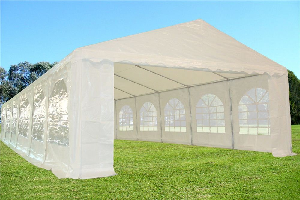 40 x16 PE Party Tent White – Heavy Duty Wedding Canopy Carport Shelter – with Storage Bags – By DELTA Canopies