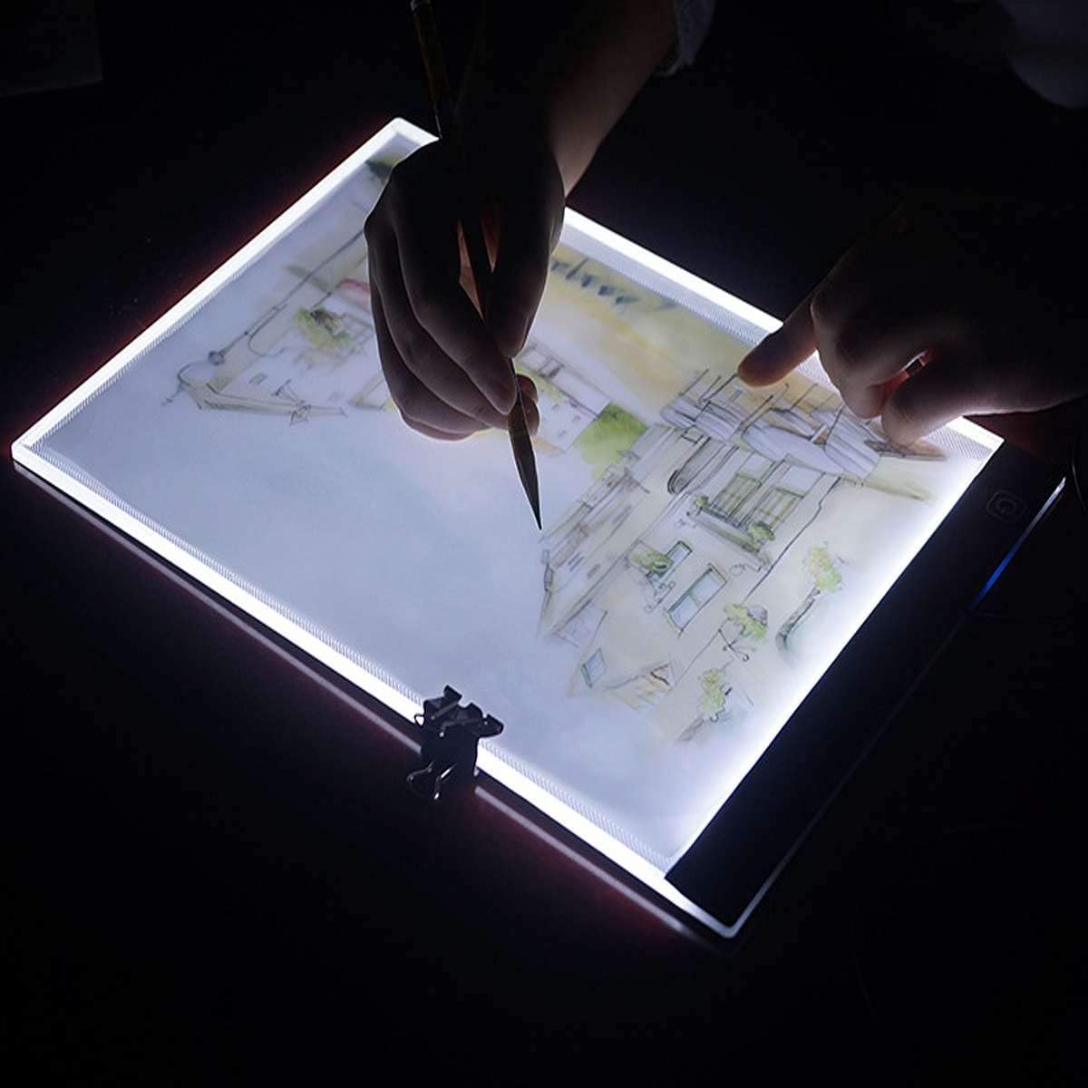 A4 Light Box Adjustable Brightness Light Pad LED Light Board with USB Cable for Diamond Painting Sketching Animation X-RAY Light Drawing