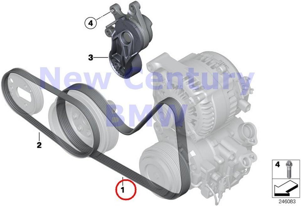 Genuine BMW E84 E89 F07N F10 F10N F11 F11N F15 V Ribbed belt OEM 11287618848