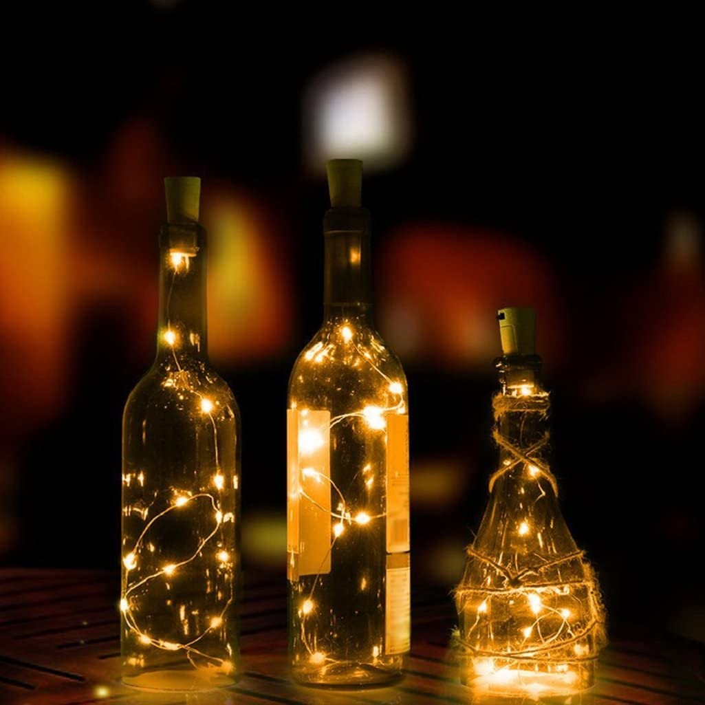 15//20LED Bottle Lights String Lights Bottle Stopper Lamp Night Light Xmas 1.5//2M
