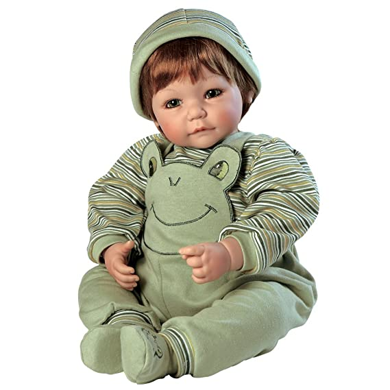fd8c109fe5 Image Unavailable. Image not available for. Color  Adora Toddler Froggy Fun  Boy 20 quot  Boy Weighted Doll Gift Set for Children 6+