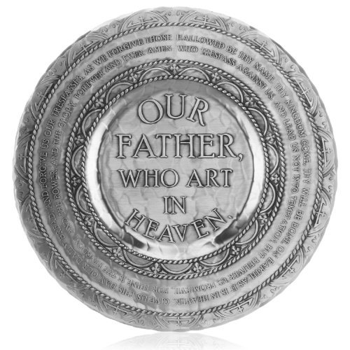 Wendell August Handmade Lords Prayer Plate by Forge