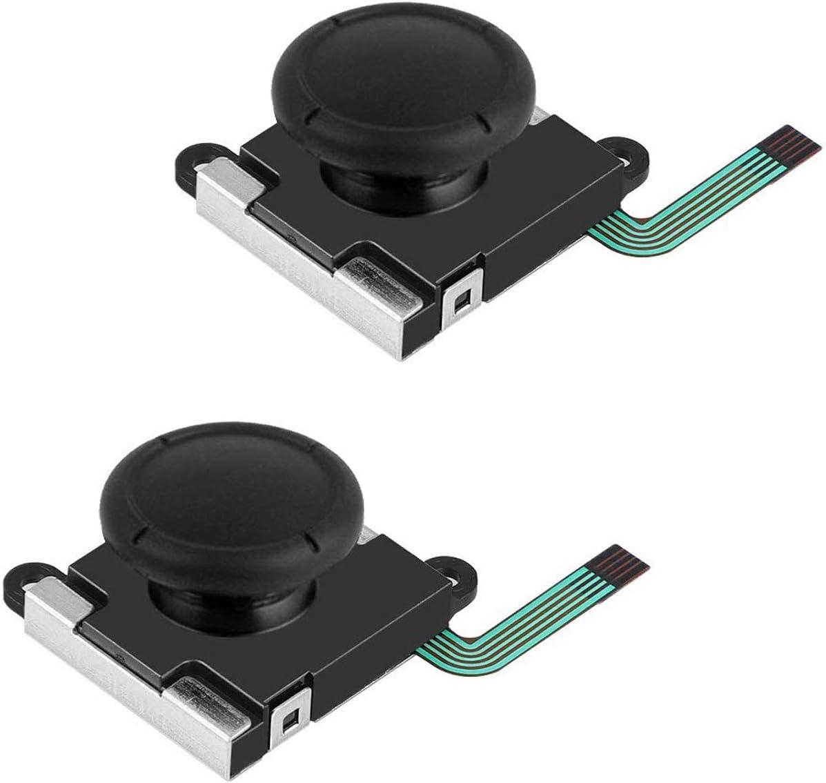 EEEKit 2-Pack de reemplazo Botón analógico 3D Palanca del Pulgar Palanca de Mando Joystick Rocker para Nintendo Switch Controlador Joy-con NS Joypad