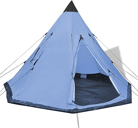 Festnight 4 Personen Zelt Campingzelt Outdoor Tent 365 x 365